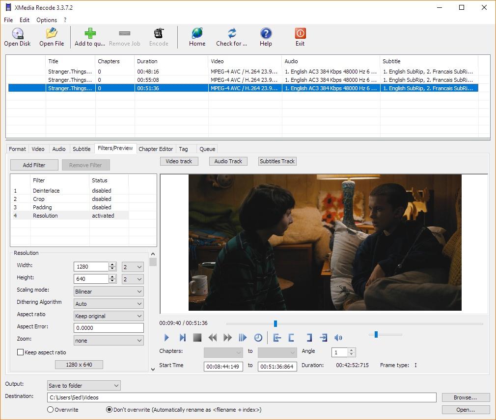 تحويل ملفات الفيديو والصوت xmedia_recode